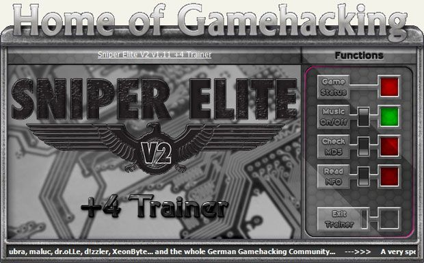 Sniper Elite V2 Steam 1.11 +4 Trainer [HoG]