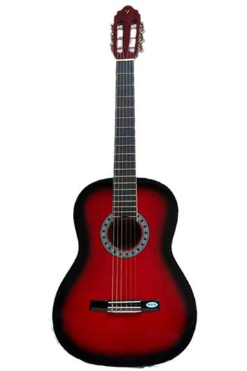 new valencia tc14 full size classical nylon string acoustic guitar red ebay. Black Bedroom Furniture Sets. Home Design Ideas